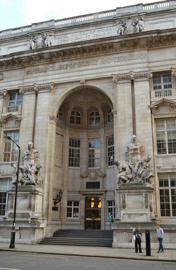皇家学校开采伦敦帝国学院 库存照片