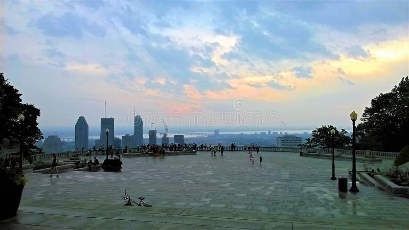 皇家山广场看法在蒙特利尔 图库摄影