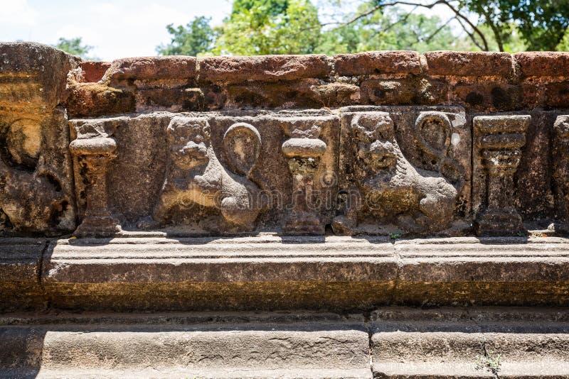 皇家巴恩,Kumara Pokuna,在波隆纳鲁沃,斯里兰卡 库存照片