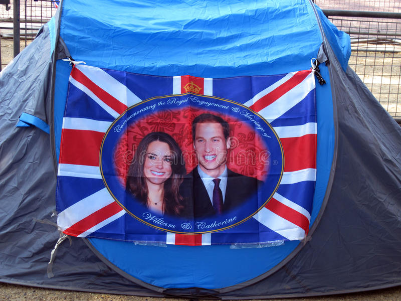 皇家帐篷婚礼 免版税图库摄影