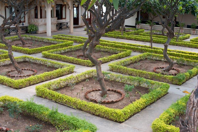 皇家庭院, Udaipur,印度 免版税库存图片