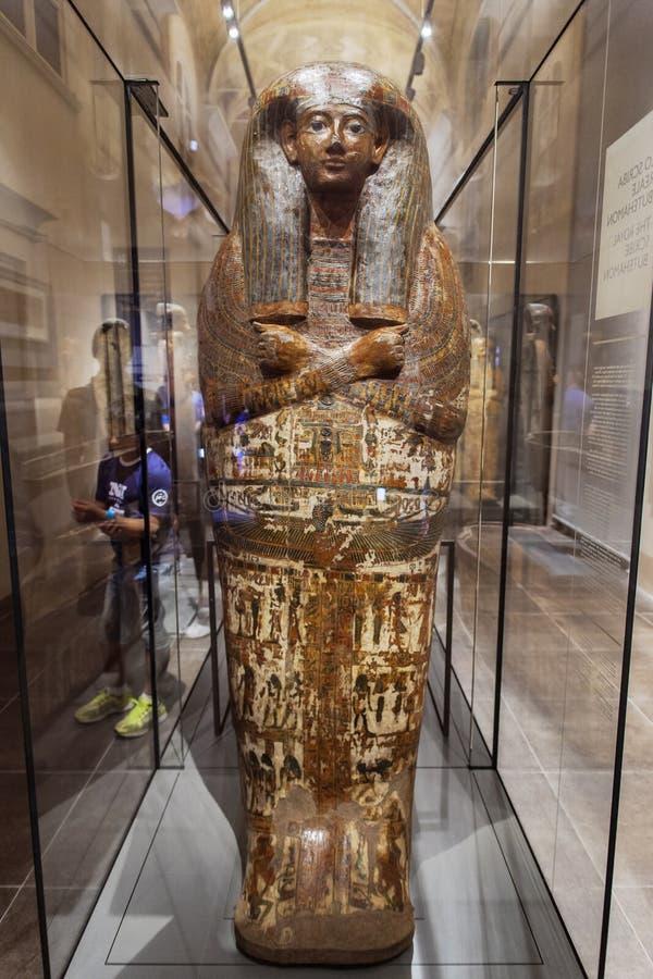 皇家抄写员Butehamon在Museo Egizio在都灵 免版税库存图片