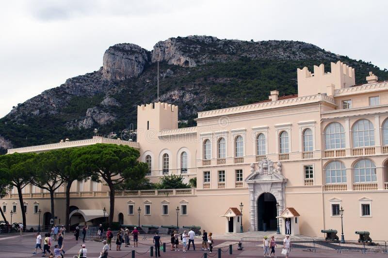 皇家摩纳哥的宫殿 免版税库存照片