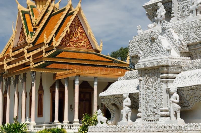 皇家柬埔寨的宫殿 图库摄影