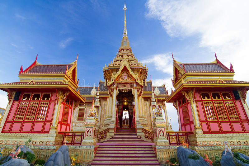 皇家泰国火葬场 库存照片