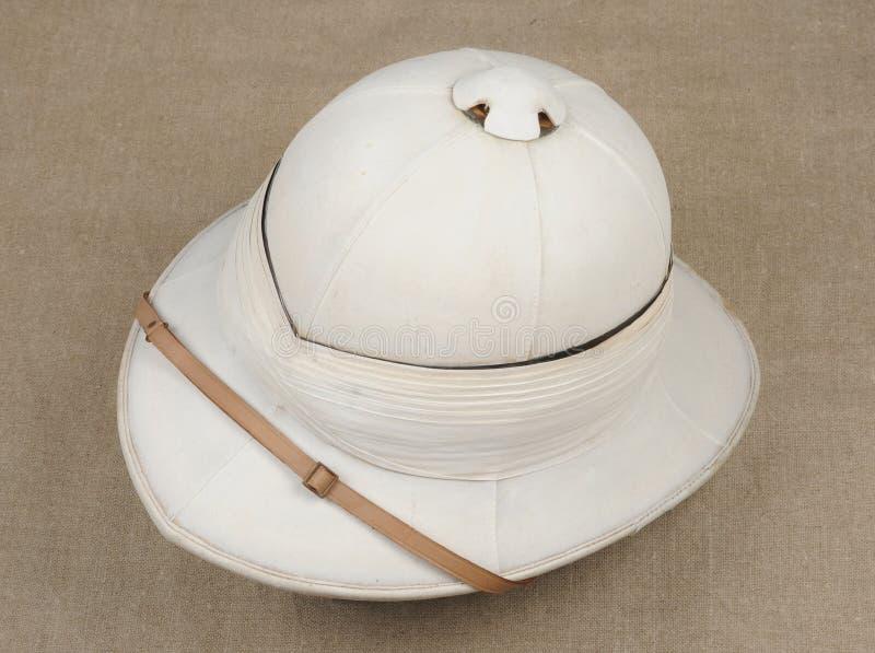 皇家海军官员的暑帽 图库摄影