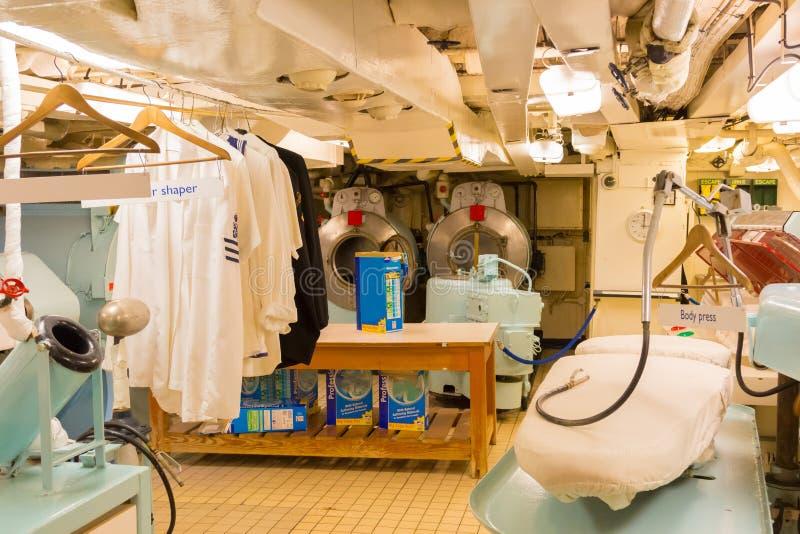 皇家游艇不列颠尼亚苏格兰洗衣店  图库摄影