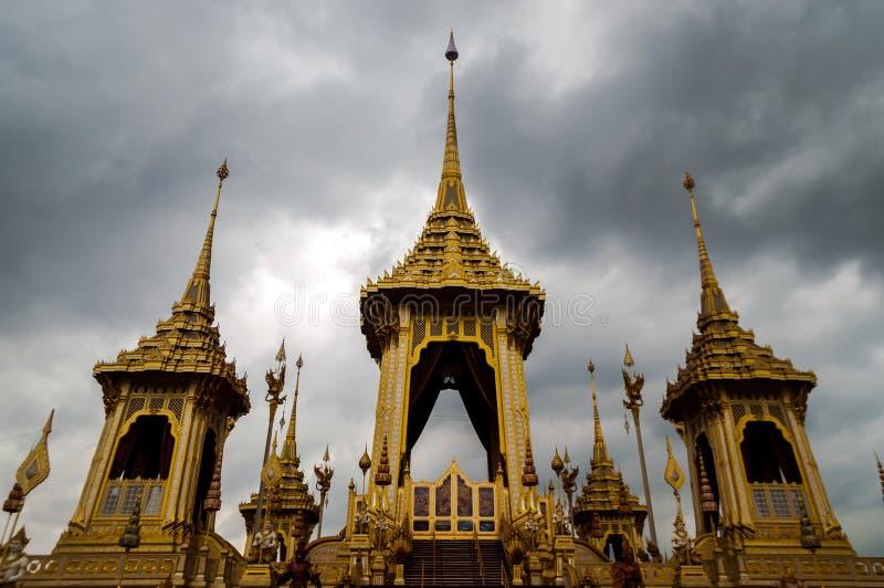 皇家火葬场泰国的Rama九国王 免版税库存照片