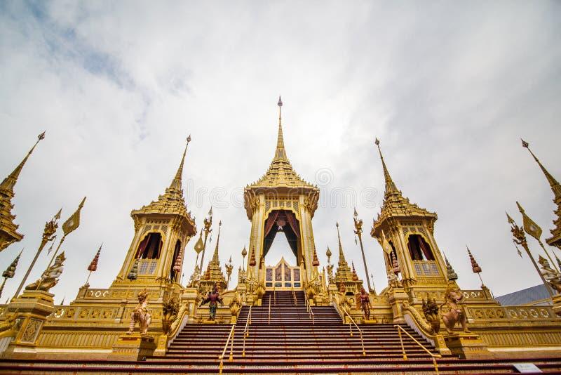 皇家火葬用的柴堆国王Rama第9泰国 免版税库存照片