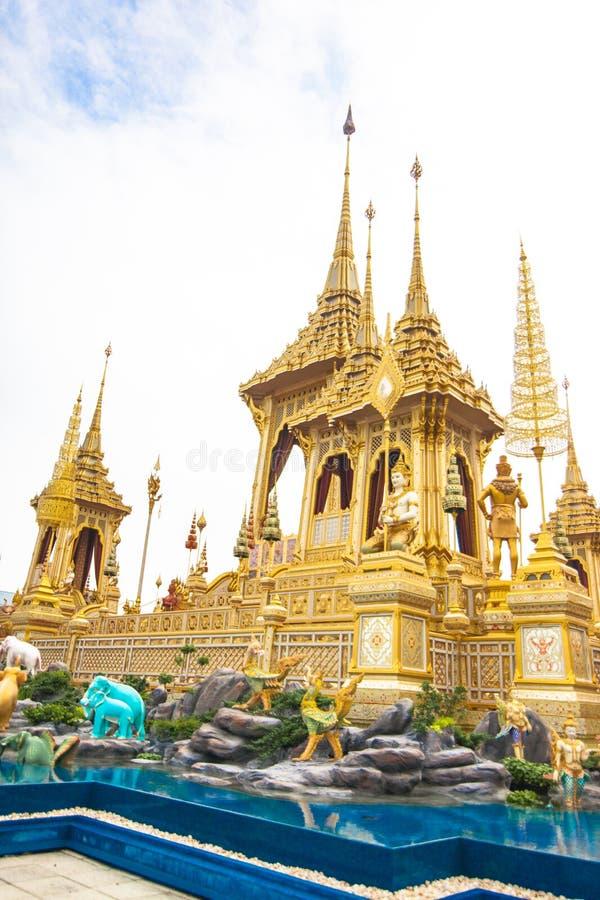 皇家火葬用的柴堆国王Rama第9泰国 图库摄影