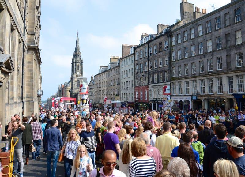 皇家爱丁堡的英里 免版税库存照片