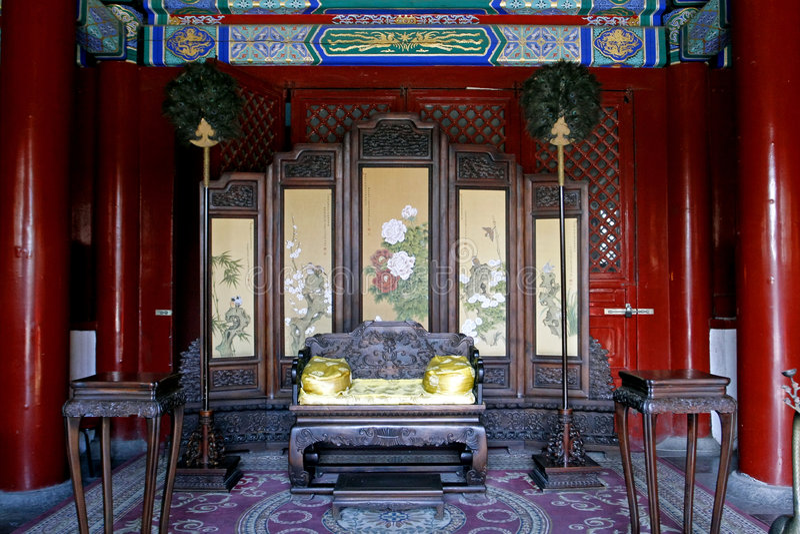 皇家瓷的大厅 图库摄影
