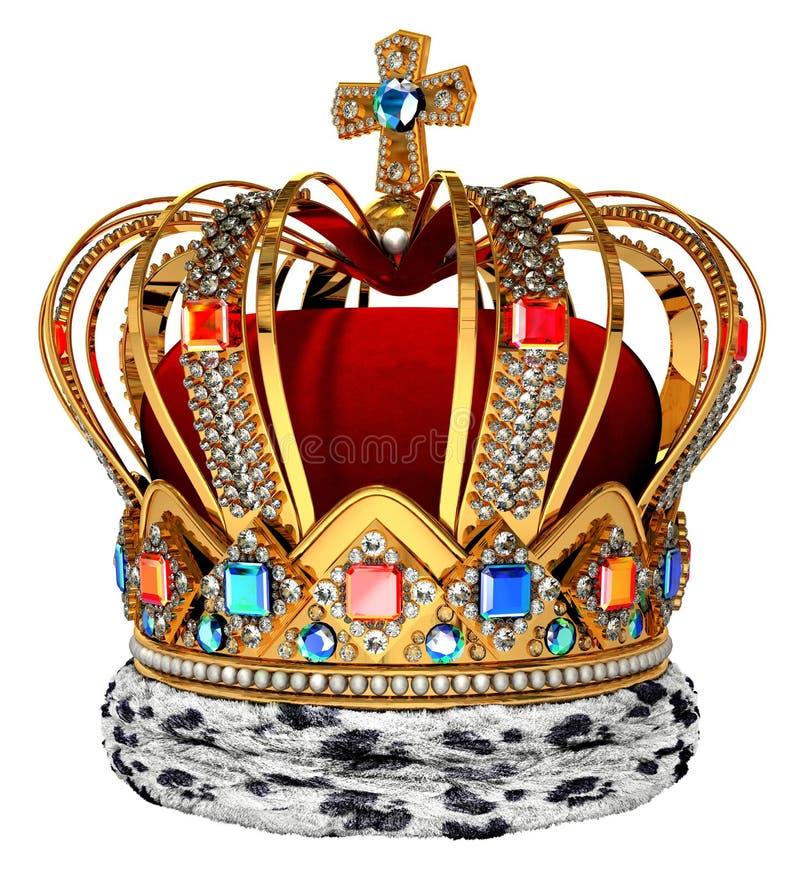 皇家的冠 向量例证