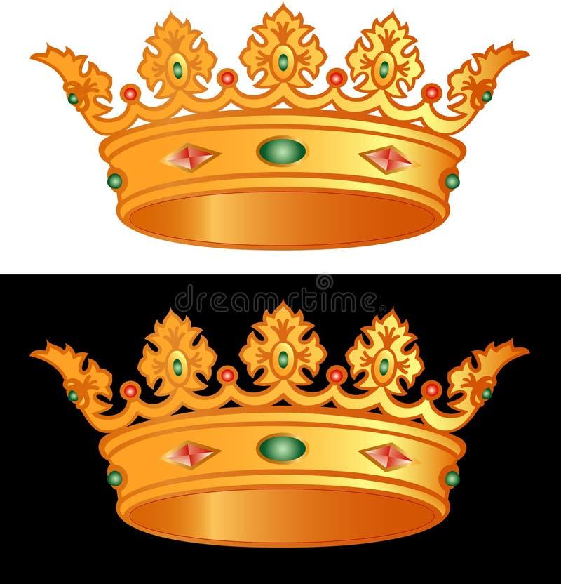 皇家的冠 库存例证