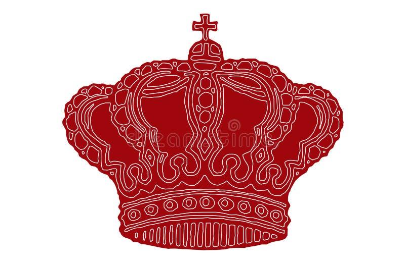 皇家的冠 皇族释放例证