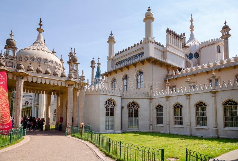 皇家穹顶宫入口布赖顿东萨塞克斯郡南英国英国 免版税库存图片