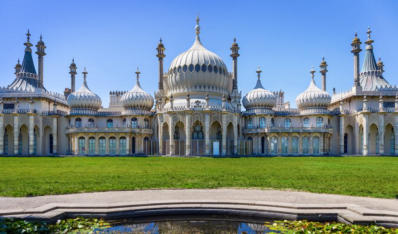 皇家穹顶宫在布赖顿,英国 库存图片