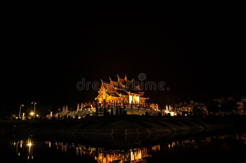 皇家穹顶宫或Ho泰国名字的西康省Luang,在泰国北部的清迈 库存照片