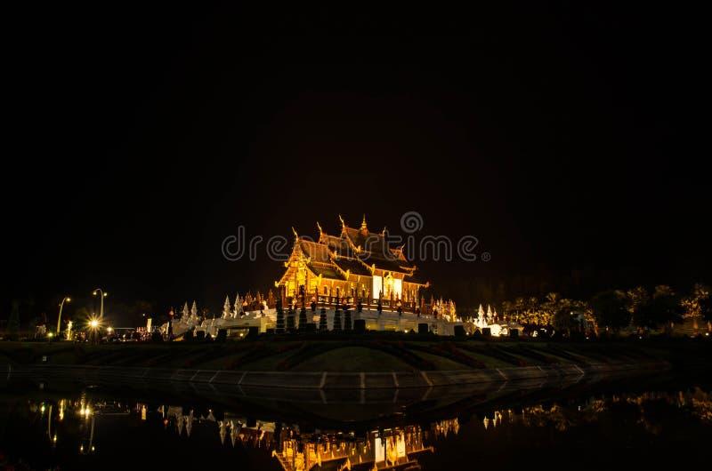 皇家穹顶宫或Ho泰国名字的西康省Luang,在泰国北部的清迈 免版税库存图片