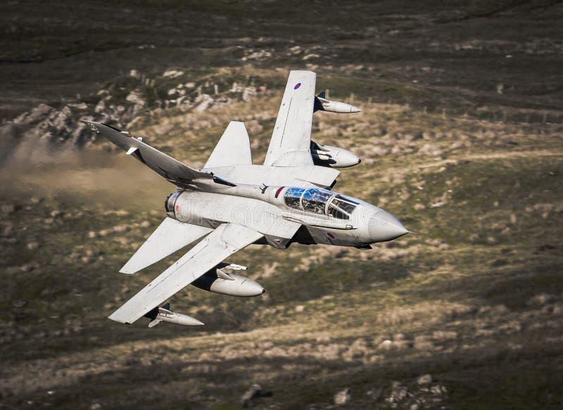 皇家空军在途中的龙卷风喷气机向伊拉克 库存图片