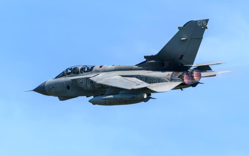皇家空军龙卷风GR4喷气机 免版税库存照片