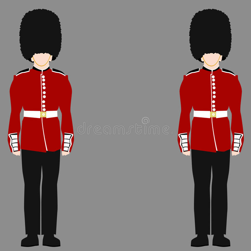 皇家英国卫兵 向量例证