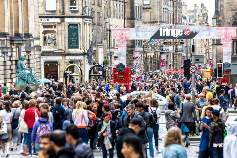 皇家英里在边缘节日期间的爱丁堡2018年 免版税库存图片