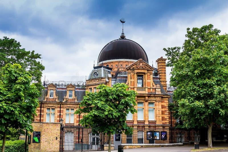皇家观测所,格林威治公园,伦敦英国 库存照片