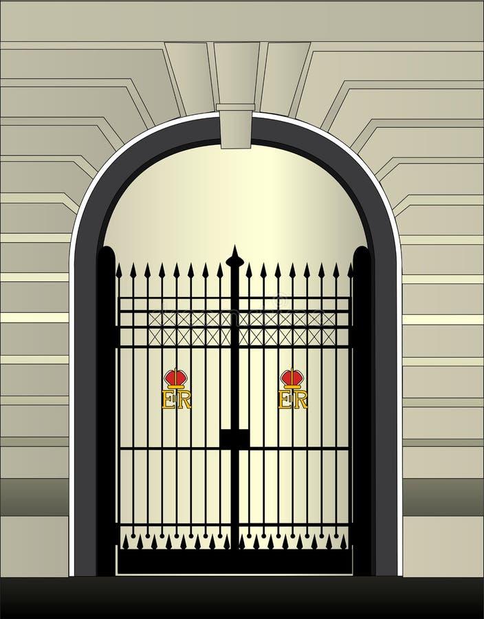 皇家门的宫殿 库存例证