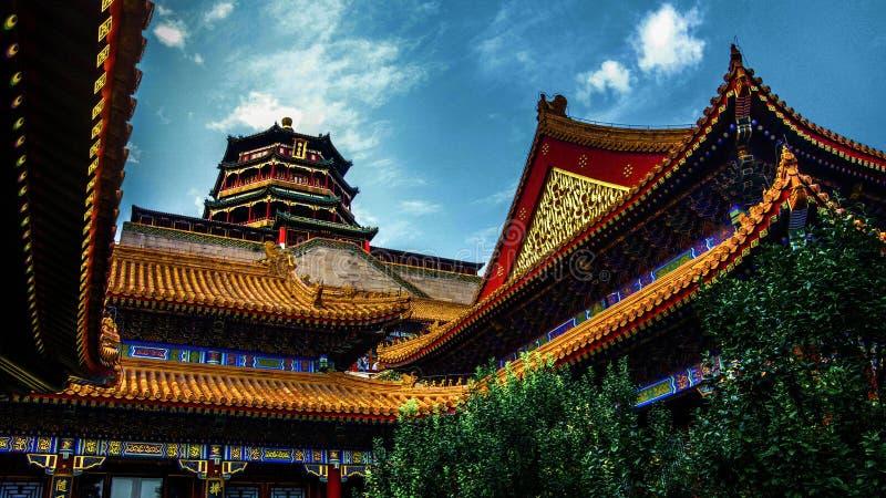 皇家颐和园北京瓷 库存照片