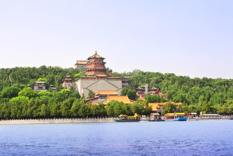 皇家颐和园在北京,中国 免版税库存图片
