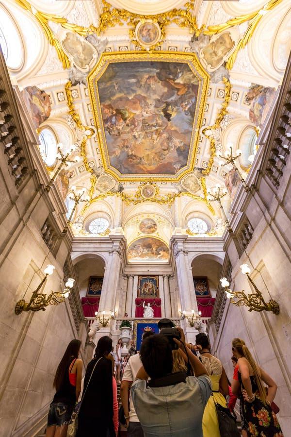 皇家马德里的宫殿 免版税库存照片