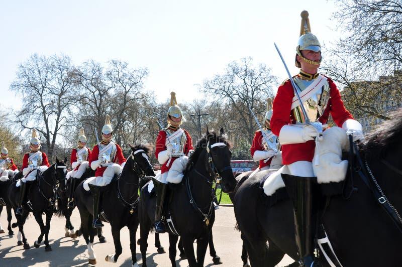 皇家骑马卫兵,英国 库存照片