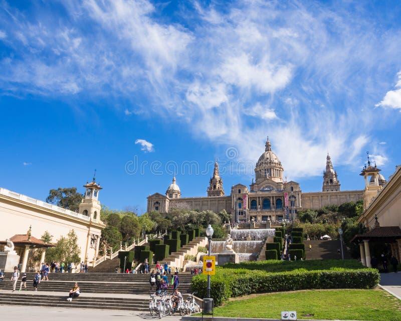皇家巴塞罗那的宫殿 库存图片