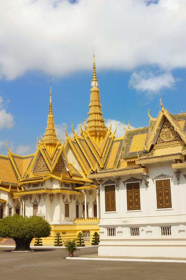 皇家7柬埔寨的宫殿 免版税库存图片