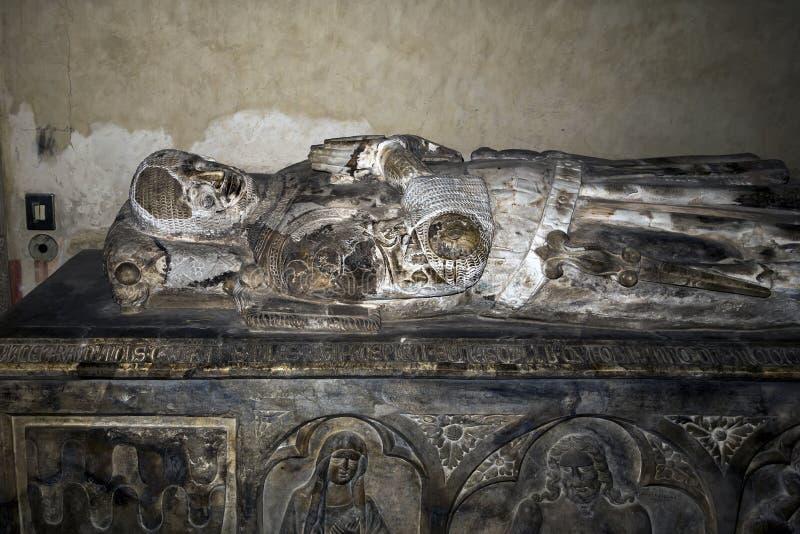 皇家Angevin坟茔在圣塔Chiara,那不勒斯,意大利 库存图片