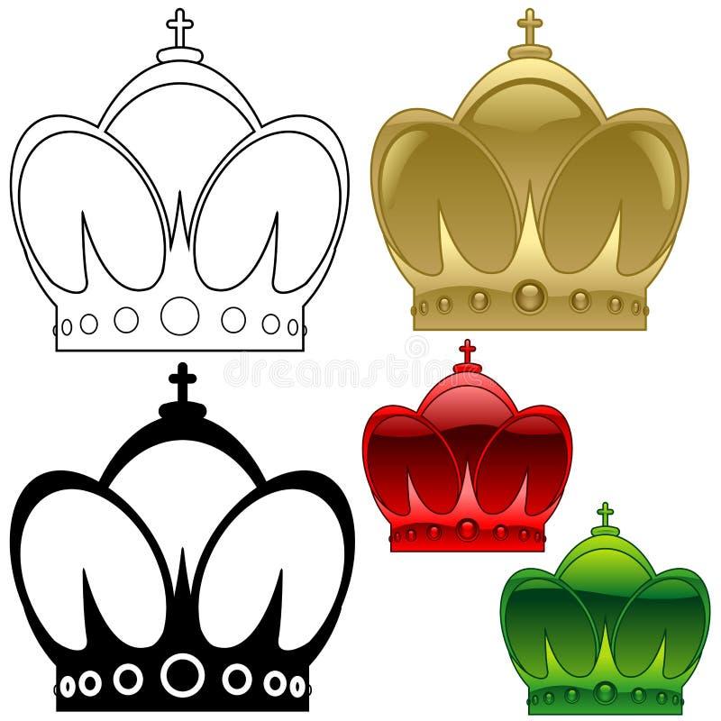 皇家b的冠 皇族释放例证