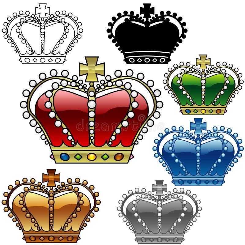 皇家c的冠 皇族释放例证