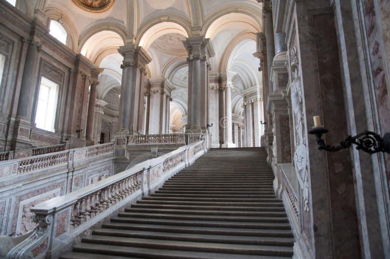 皇家caserta意大利的宫殿 免版税库存照片