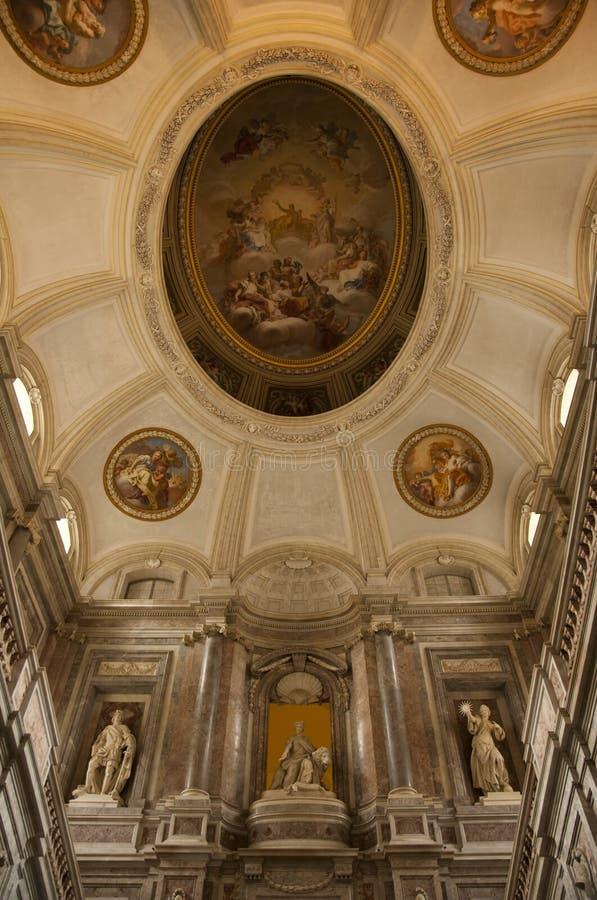 皇家caserta意大利的宫殿 图库摄影