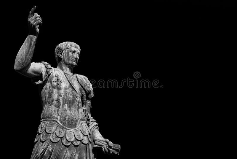 皇帝凯撒奥古斯都Trajan征服者 库存照片