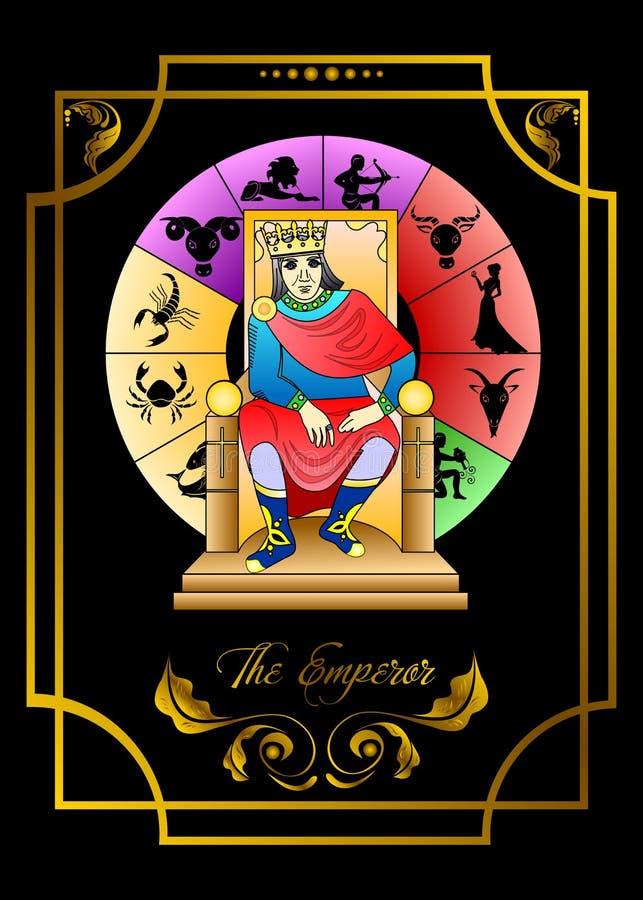 皇帝卡片 向量例证