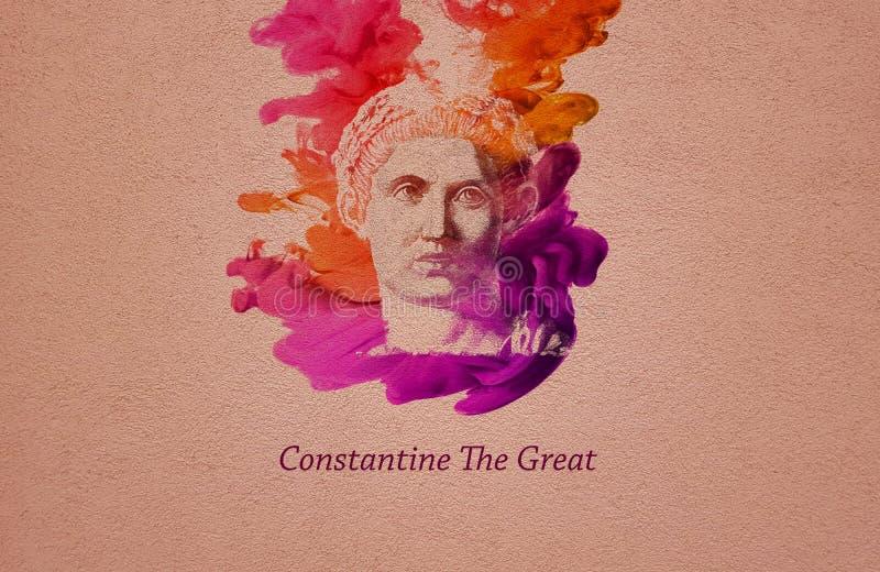 皇帝君士坦丁大帝 向量例证