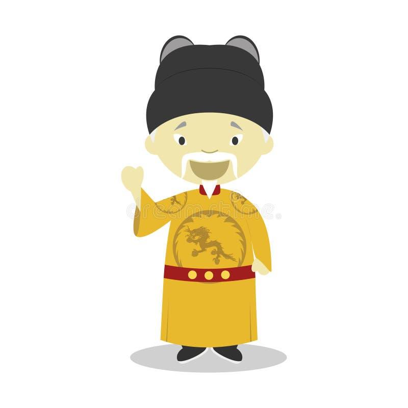 皇帝明代洪武漫画人物 也corel凹道例证向量 皇族释放例证