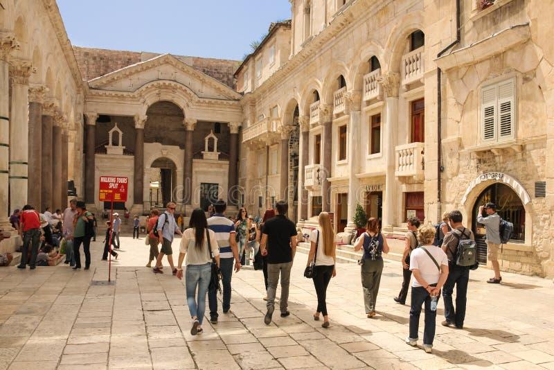 皇帝Diocletian的宫殿 已分解 克罗地亚 免版税库存照片