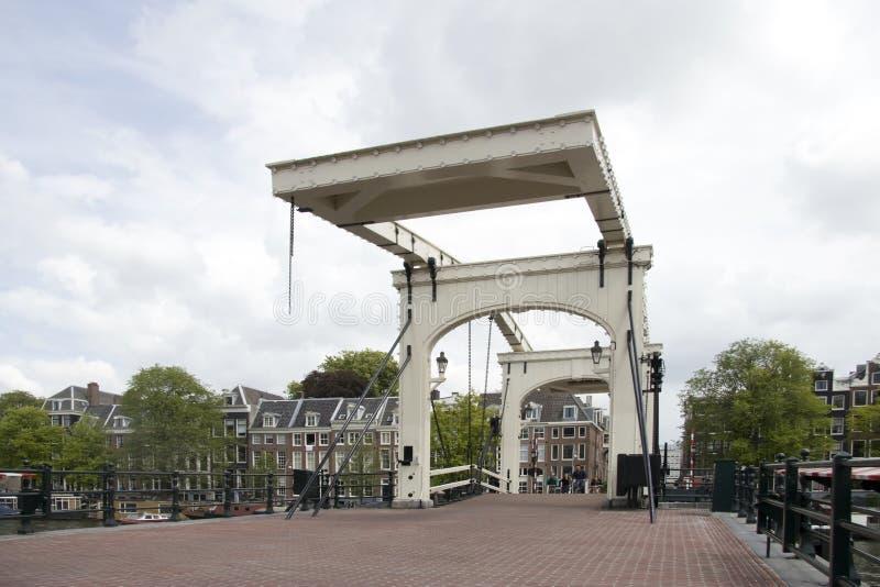 皮包骨头的桥梁在阿姆斯特丹 库存图片