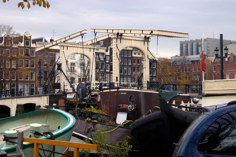 皮包骨头的桥梁在阿姆斯特丹 免版税库存图片