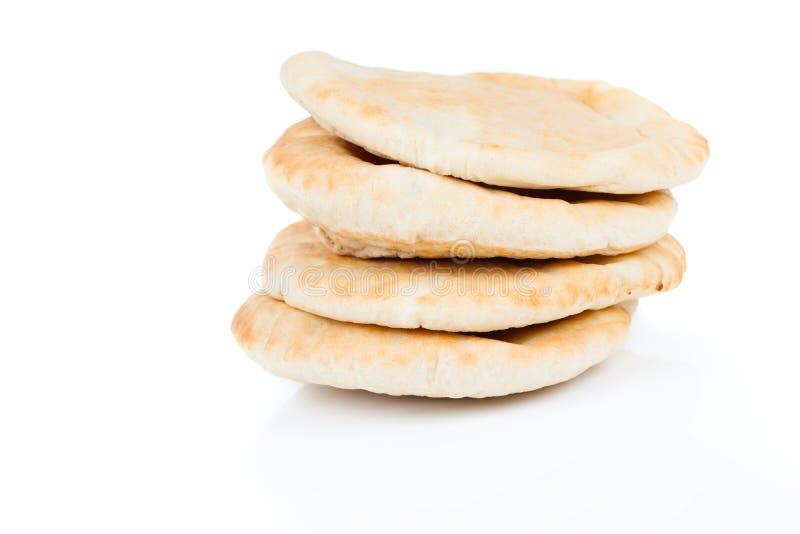 皮塔面包(黎巴嫩面包) 免版税库存照片