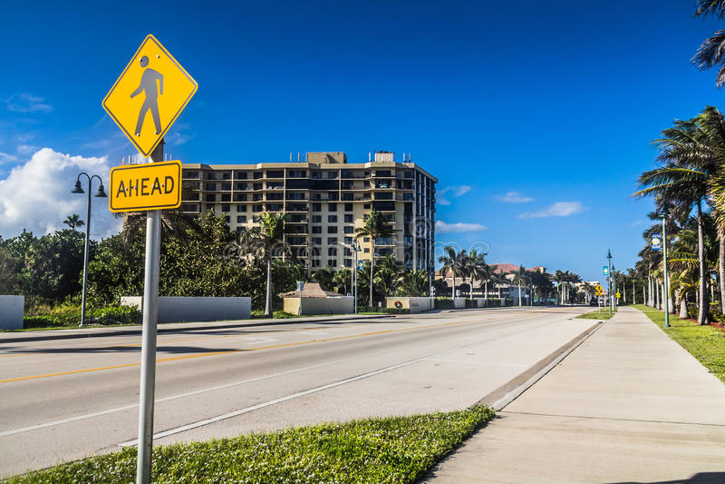 皮尔斯堡A1A路佛罗里达 库存图片