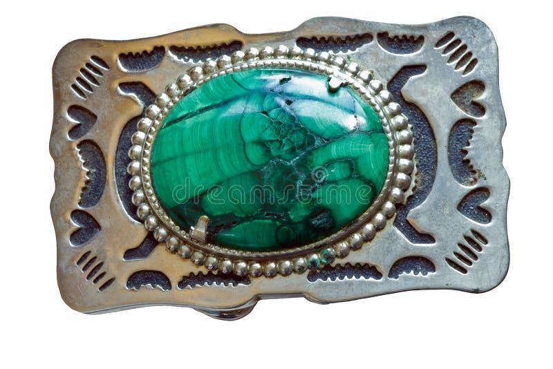皮带扣绿沸铜 免版税库存图片